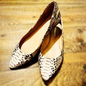 🐍 BCNGeneration Millie Snake Pointed Toe Flats 🐍